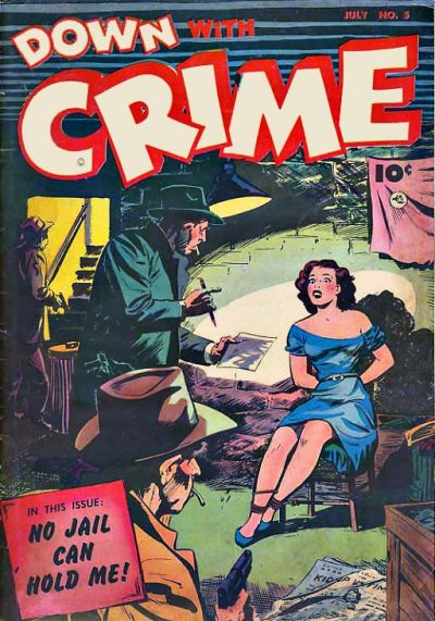Cover for Down with Crime (Fawcett, 1952 series) #5