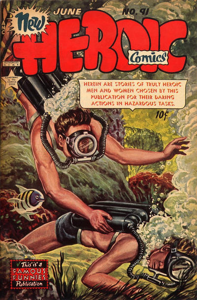 Cover for New Heroic Comics (1946 series) #91
