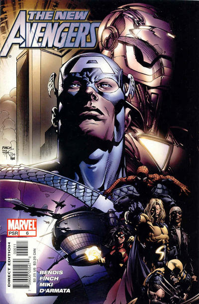 Cover for New Avengers (Marvel, 2005 series) #6 [Direct Edition]