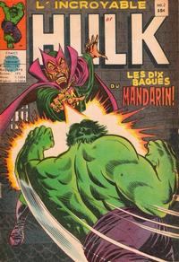Cover Thumbnail for L' Incroyable Hulk (Editions Héritage, 1968 series) #2
