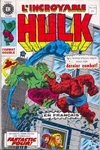Cover Thumbnail for L' Incroyable Hulk (Editions Héritage, 1968 series) #10