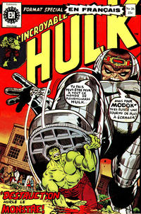 Cover Thumbnail for L' Incroyable Hulk (Editions Héritage, 1968 series) #26