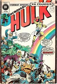 Cover Thumbnail for L' Incroyable Hulk (Editions Héritage, 1968 series) #49