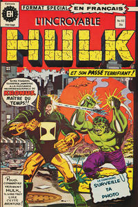 Cover Thumbnail for L' Incroyable Hulk (Editions Héritage, 1968 series) #63