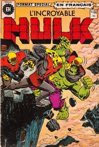 Cover Thumbnail for L' Incroyable Hulk (Editions Héritage, 1968 series) #66
