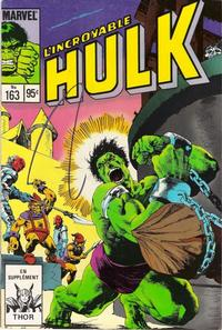 Cover Thumbnail for L' Incroyable Hulk (Editions Héritage, 1968 series) #163