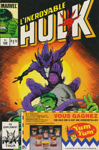 Cover Thumbnail for L' Incroyable Hulk (Editions Héritage, 1968 series) #168