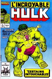 Cover Thumbnail for L' Incroyable Hulk (Editions Héritage, 1968 series) #183