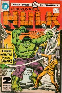 Cover Thumbnail for L' Incroyable Hulk (Editions Héritage, 1968 series) #84/85