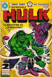 Cover Thumbnail for L' Incroyable Hulk (Editions Héritage, 1968 series) #92/93