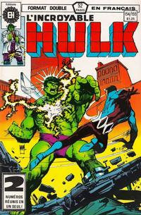 Cover Thumbnail for L' Incroyable Hulk (Editions Héritage, 1968 series) #154/155