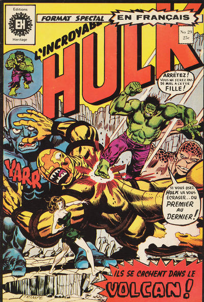 Cover for L' Incroyable Hulk (Editions Héritage, 1968 series) #29