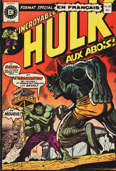 Cover for L' Incroyable Hulk (Editions Héritage, 1968 series) #30