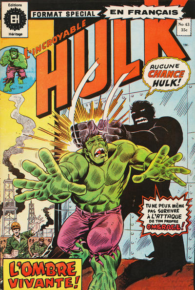 Cover for L' Incroyable Hulk (Editions Héritage, 1968 series) #43