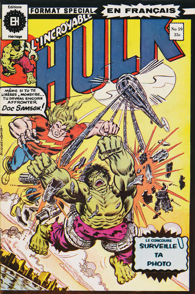 Cover for L' Incroyable Hulk (Editions Héritage, 1968 series) #59