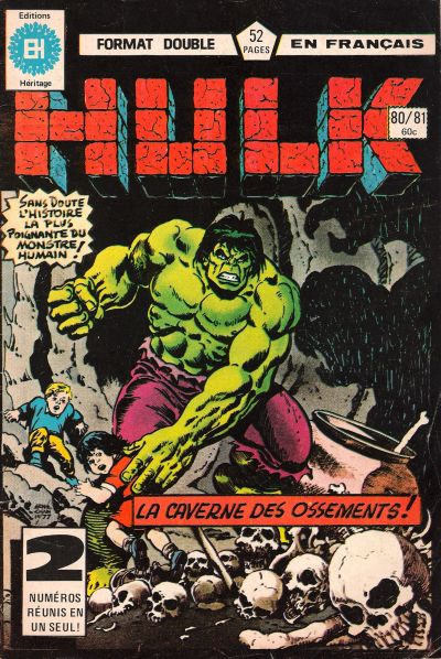 Cover for L' Incroyable Hulk (Editions Héritage, 1968 series) #80/81