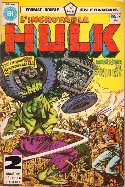 Cover for L&#39; Incroyable Hulk (1968 series) #88/89