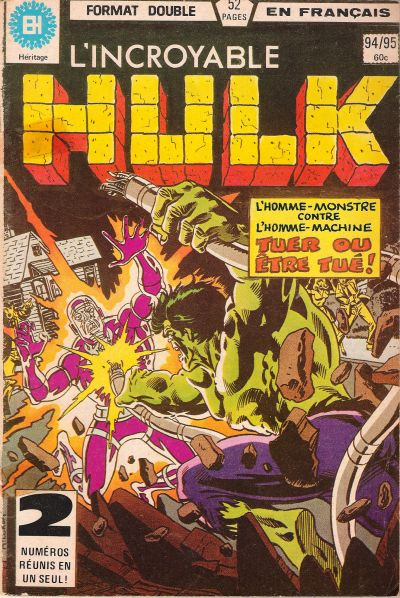 Cover for L' Incroyable Hulk (Editions Héritage, 1968 series) #94/95