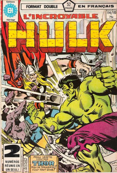 Cover for L' Incroyable Hulk (Editions Héritage, 1968 series) #114/115