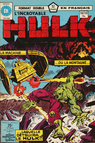 Cover for L' Incroyable Hulk (Editions Héritage, 1968 series) #118/119