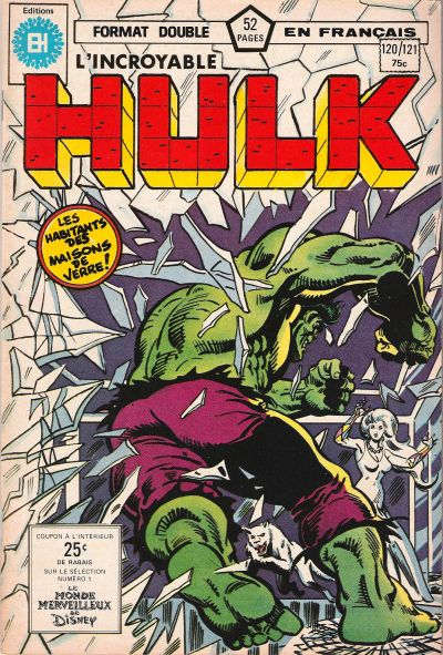 Cover for L' Incroyable Hulk (Editions Héritage, 1968 series) #120/121