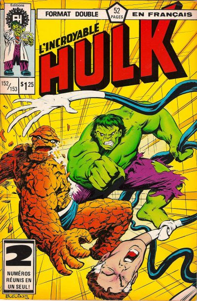 Cover for L' Incroyable Hulk (Editions Héritage, 1968 series) #152/153