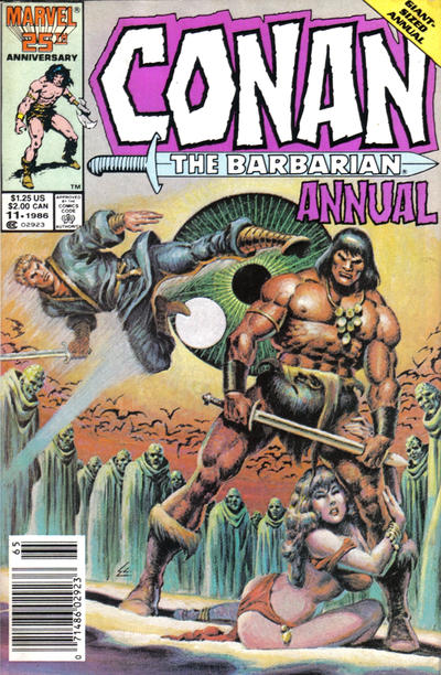 Cover for Conan Annual (Marvel, 1973 series) #11 [Direct Edition]