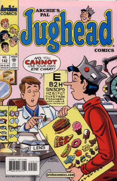 Cover for Archie's Pal Jughead Comics (Archie, 1993 series) #142