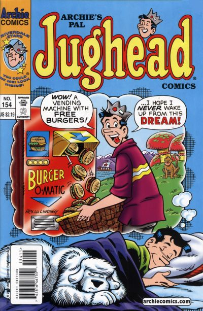 Cover for Archie's Pal Jughead Comics (Archie, 1993 series) #154