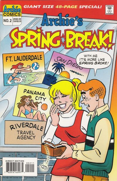 Cover for Archie's Spring Break (Archie, 1996 series) #2