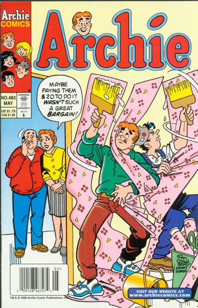Cover for Archie (1962 series) #483