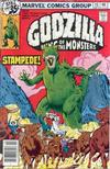 Cover for Godzilla (Marvel, 1977 series) #15
