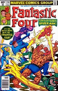 Cover Thumbnail for Fantastic Four (Marvel, 1961 series) #218 [newsstand]