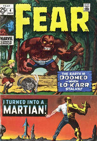 Cover Thumbnail for Fear (Marvel, 1970 series) #4