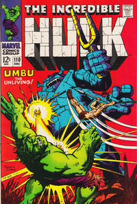 Cover Thumbnail for The Incredible Hulk (Marvel, 1968 series) #110
