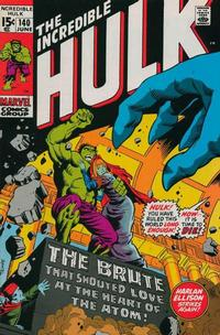 Cover Thumbnail for The Incredible Hulk (Marvel, 1968 series) #140