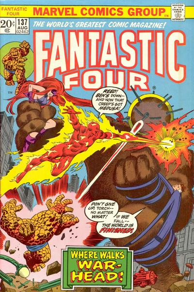 Cover for Fantastic Four (1961 series) #137