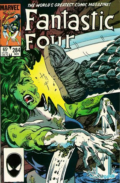 Cover for Fantastic Four (Marvel, 1961 series) #284 [Canadian price variant]