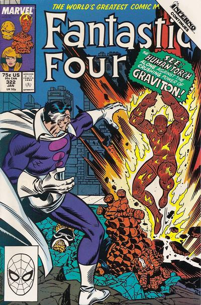Cover for Fantastic Four (Marvel, 1961 series) #322
