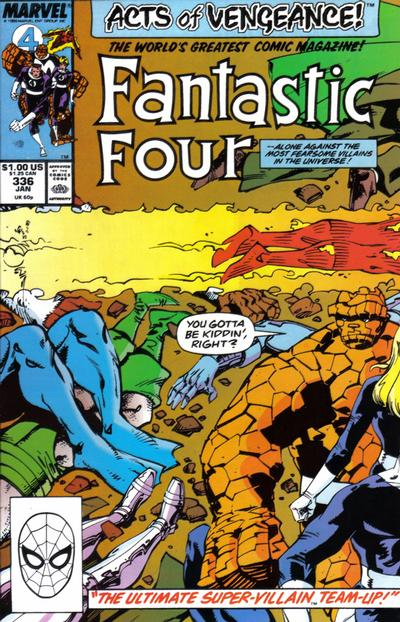 Cover for Fantastic Four (1961 series) #336 [Direct Edition]