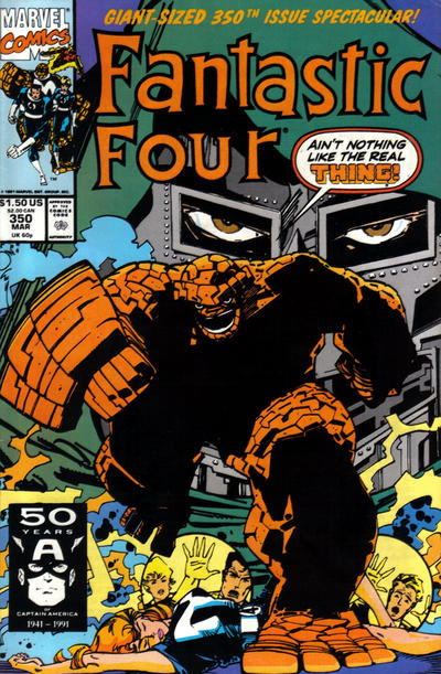 Cover for Fantastic Four (Marvel, 1961 series) #350 [Direct Edition]