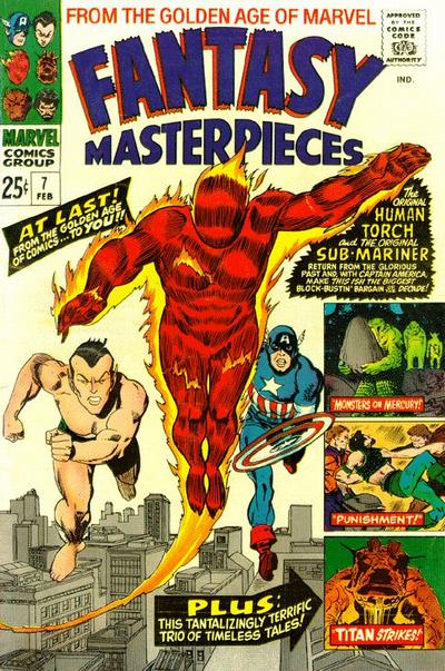 Cover for Fantasy Masterpieces (Marvel, 1966 series) #7