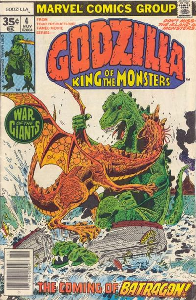 Cover for Godzilla (Marvel, 1977 series) #4