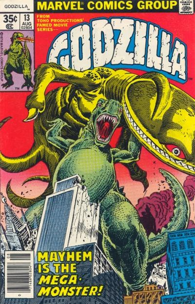 Cover for Godzilla (Marvel, 1977 series) #13
