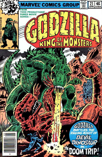 Cover for Godzilla (Marvel, 1977 series) #21