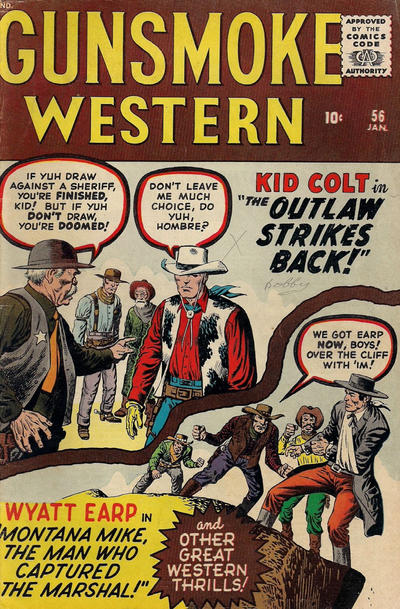Cover for Gunsmoke Western (Marvel, 1955 series) #56
