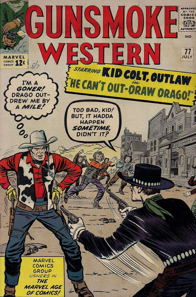Cover for Gunsmoke Western (Marvel, 1955 series) #77