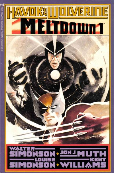 Cover for Havok & Wolverine - Meltdown (1988 series) #1