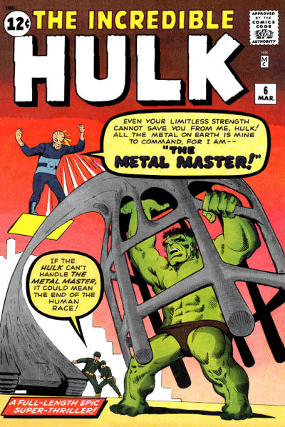 Cover for The Incredible Hulk (Marvel, 1962 series) #6 [British price variant]