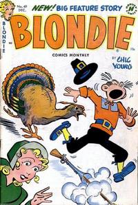 Cover Thumbnail for Blondie Comics Monthly (Harvey, 1950 series) #49